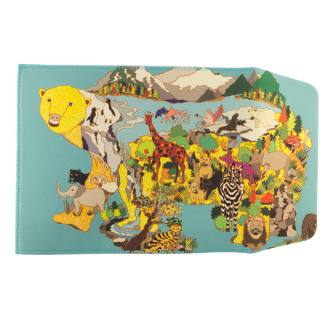 This show stopping pouch designed by PolarZoo from Korea is the perfect accessory for somebody who loves the unusual. The amazing print and vibrant colours make this pouch stand out no matter what. Made to fit an Ipad.