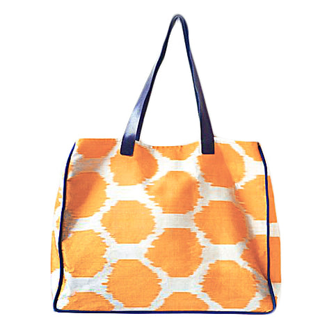 Orange Ikat Bag