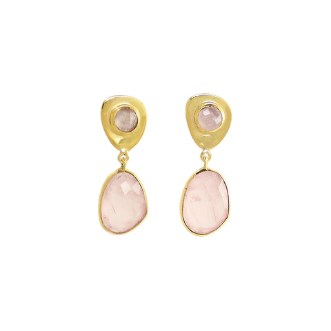 Rose Quartz Alina Earrings