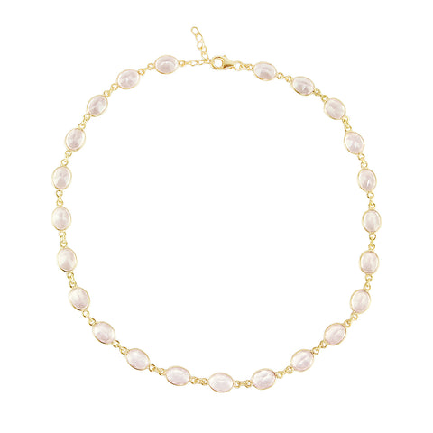 Rose Quartz Vivian Necklace