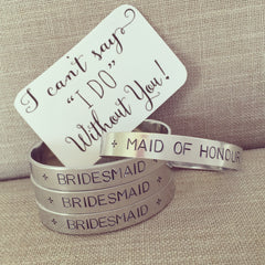 Wedding Gift_Bridesmaid_Maid Of Honour_Personalised Bracelet