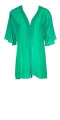 Maryan Mehlhorn Luxury Coverup in Caribbean Green