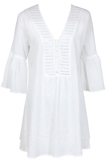 Lidea White Cotton Kaftan Blouse from Maryan Mehlhorn