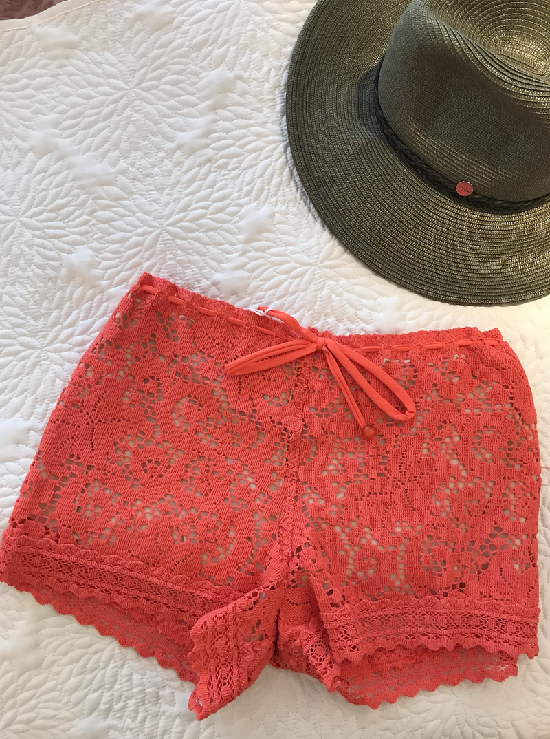 Peplum Spritz  Beach Shorts