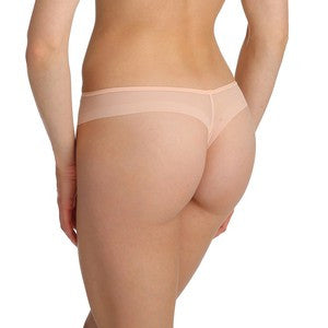 Back Marie Jo Undertones Thong in Glossy Pink