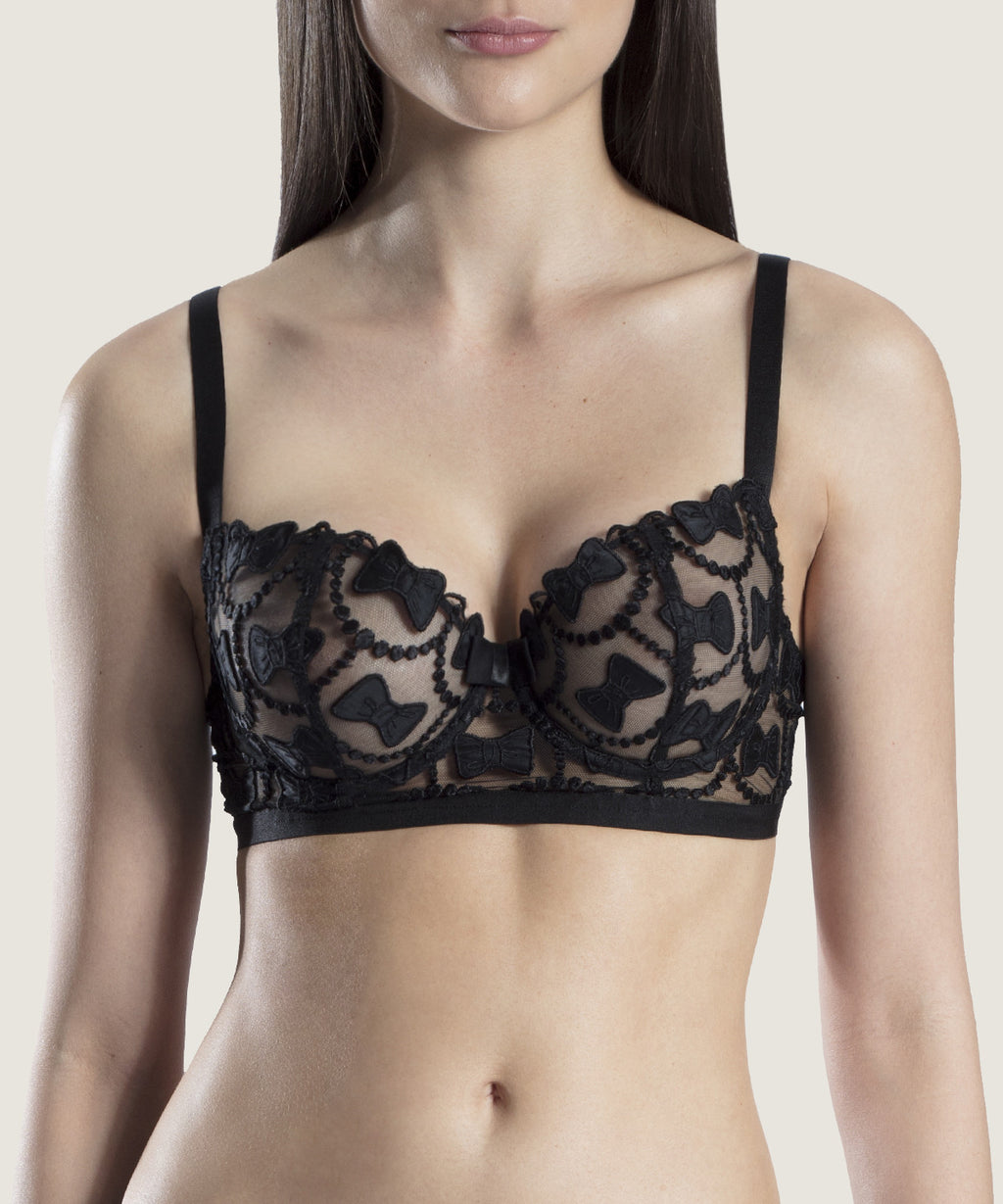 The Bow Collection Half-Cup Bra