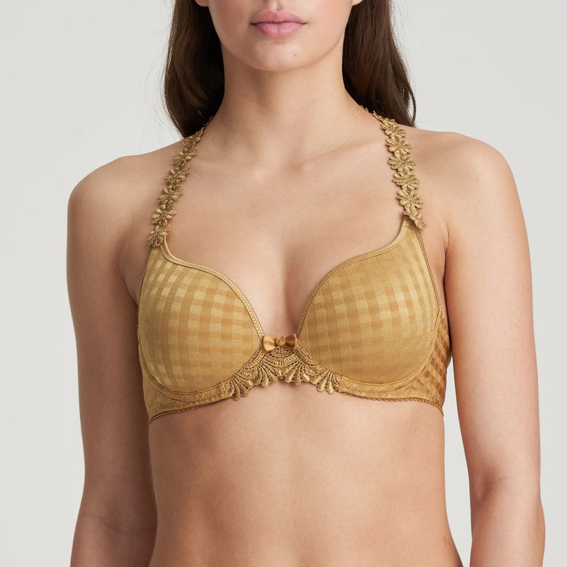 Avero Padded Heart Shape Bra - Gold