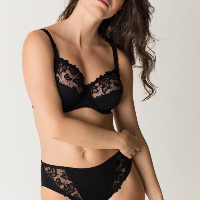 Deauville Full Cup Wire Bra - Black