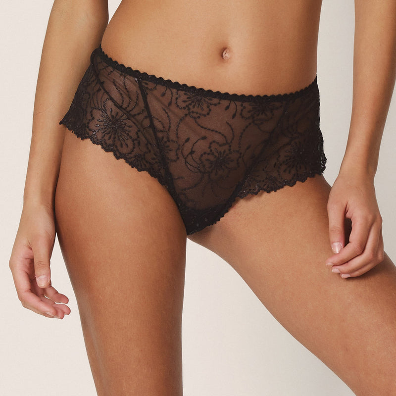Jane Luxury Thong - Black