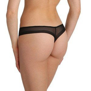 Marie Jo Lingerie Undertones Thong in Black Back