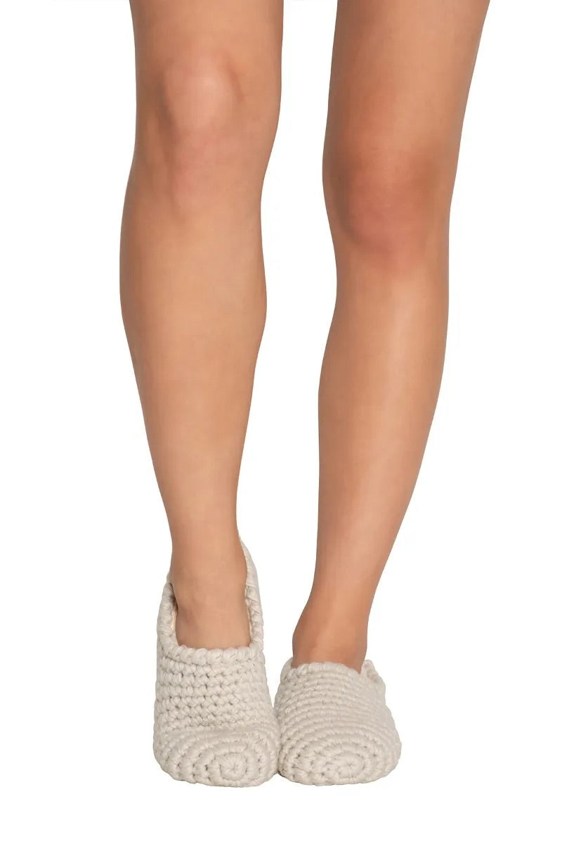 Ankle faux shearling-lined slipper sock
