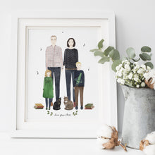 Custom Family Portrait Illustration - Nia Tudor Illustration  - 1