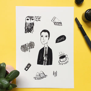 Twin Peaks Illustration Print - Nia Tudor Illustration