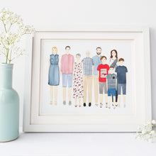 Custom Family Portrait Illustration - Nia Tudor Illustration  - 2