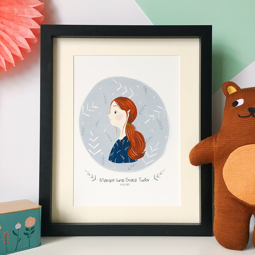 Customisable Girl Print - Nia Tudor Illustration