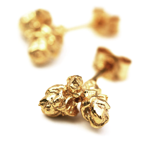 Rose Bud Stud Earrings