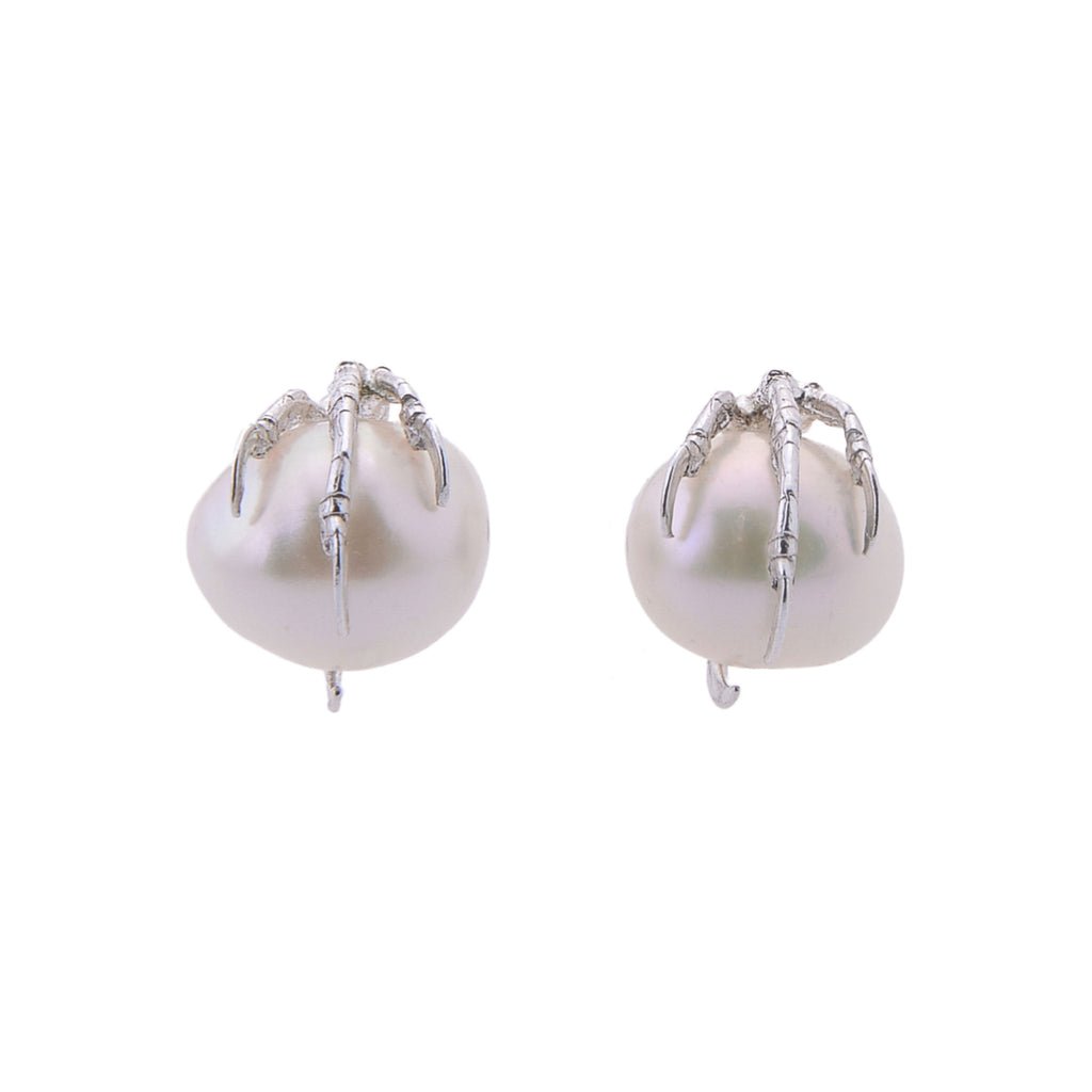 Claw and Pearl Earrings