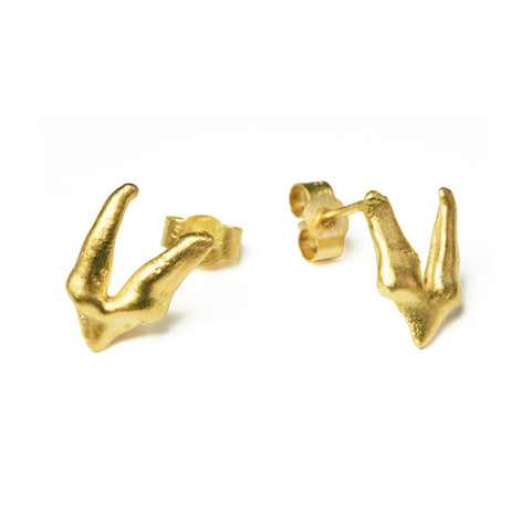 Fox Premolar Teeth Earrings