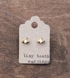 Tiny Teeth Earrings