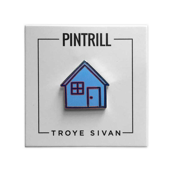 TROYE SIVAN BLUE HOUSE ENAMEL PIN