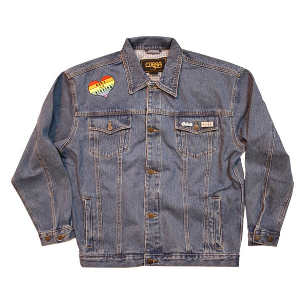 KEEP ON KISSING DENIM JACKET