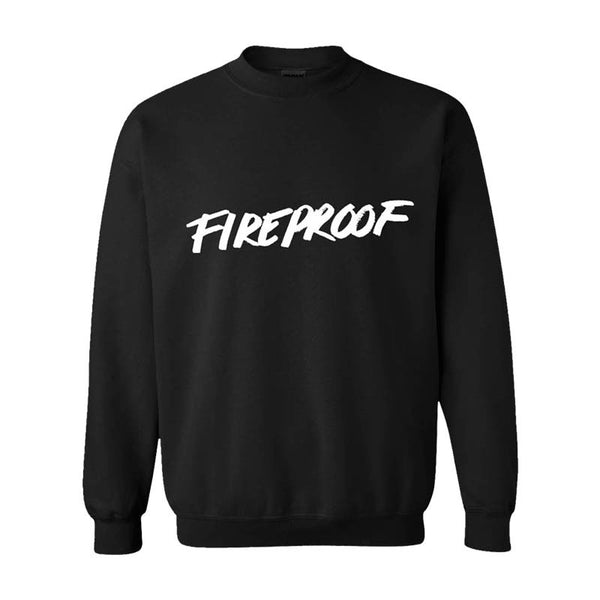 BLACK FIREPROOF CREWNECK SWEATSHIRT