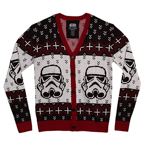 Holiday Star Wars Stormtrooper Button-Up Cardigan Sweater