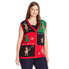 Gingerbread Cookies Women's Plus Size Ugly Sweater Vest