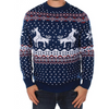Men's Mating Reindeer Holiday Christmas Sweater
