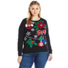 Christmas Tree Decor Women's Plus Size Holiday Sweater