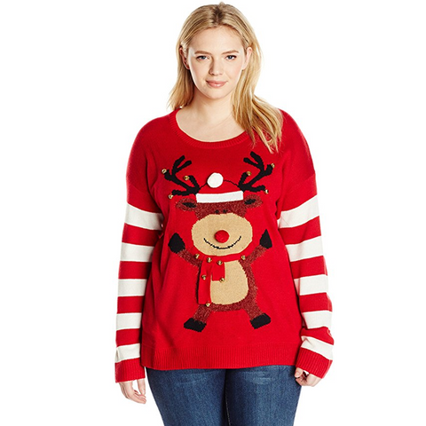 Rudolph Jingle Bell Women's Plus Size Sweater