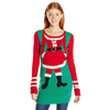 Mrs Claus Body Tunic Christmas Sweater - Juniors