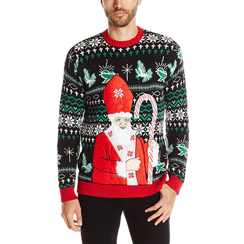 Pope Santa Clause Unisex Holiday Chrismas Sweater