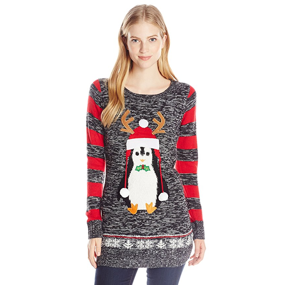 Baby Christmas Penguin - Juniors Ugly Christmas Sweater | Holiday ...