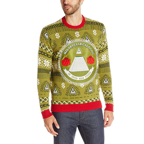 Illuminati Money Ugly Christmas Sweater