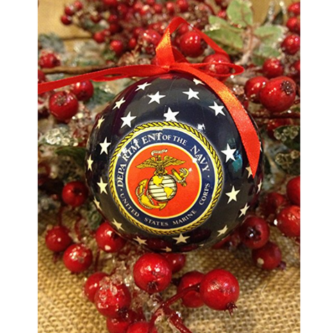 U.S. Marine Corps Styrofoam Ball Christmas Tree Ornament