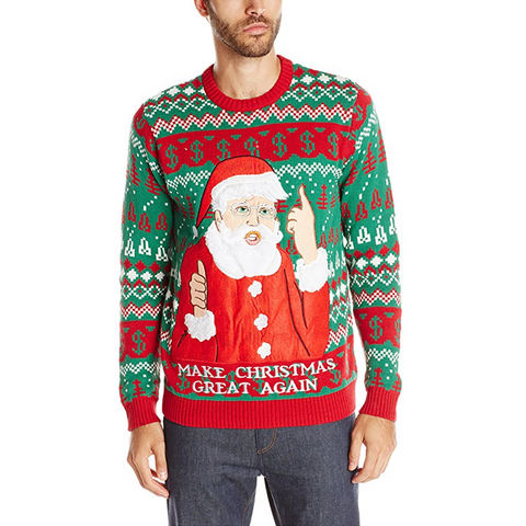 Make Christmas Great Again UNISEX Santa Trump Sweater