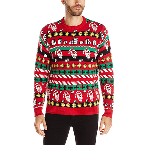 Video Game Cheat Code Ugly Christmas Sweater