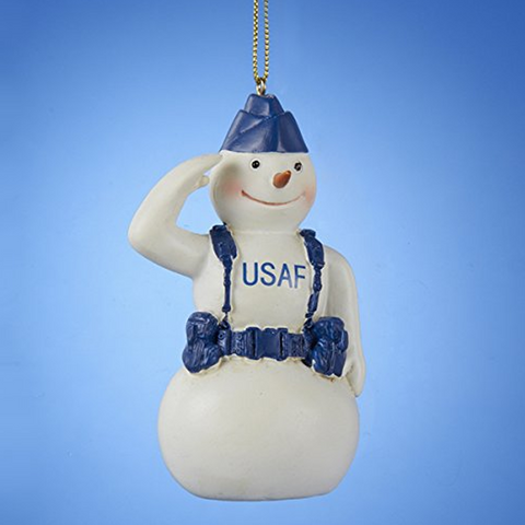 Air Force Snowman Christmas Ornament