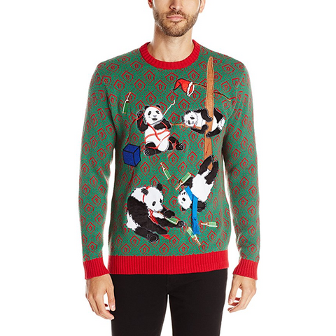 Panda Christmas Party Sweater