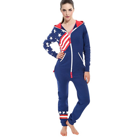Team USA Onesie Hooded Romper