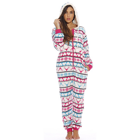 Wintertime Onesie Hooded Romper