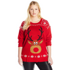 Rudolph the Red Nosed Reindeer Light Up Women's Plus Size Christmas Sweater