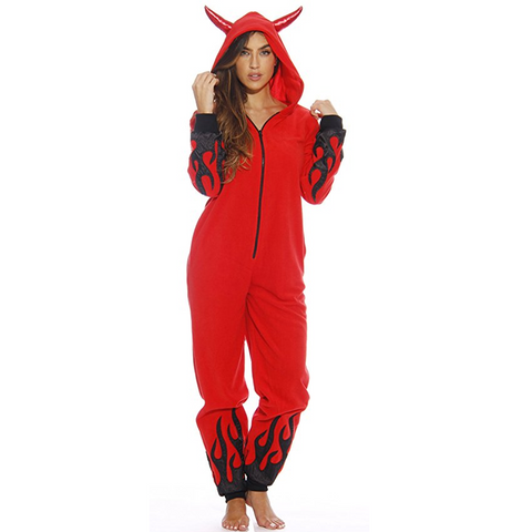 Horny Devil Onesie Hooded Romper