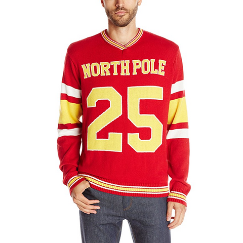 Sports Team North Pole Jersey Number 25 Ugly Christmas Sweater