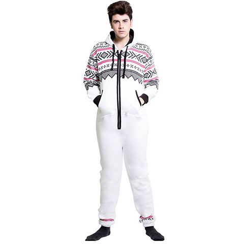Men's Fleece Onesie Non Footed Pajamas