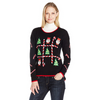 Tic-Tac-Toe Light Up Women's Plus Size Christmas Sweater
