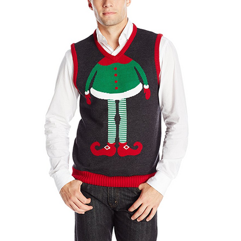 Elf Body Ugly Christmas Sweater Vest