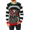 Motorcycle Santa Jolly to the Bone Ugly Christmas Sweater