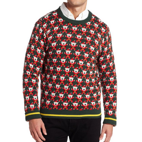 Retro Gamer Pixelated Graphic Santa UNISEX Sweater